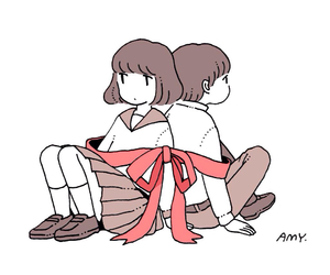 amy, drawing, and girl image