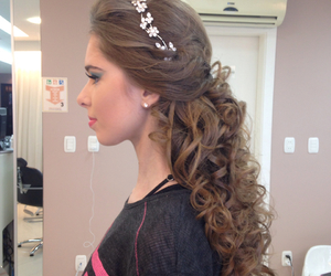 cabelo, hair, and hairstyle image