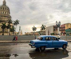 blue, car, and cuba image