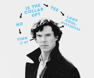 sherlock, collar, and mysterious image