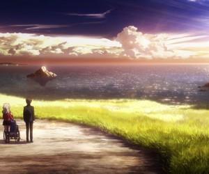 anime, charlotte, and anime scenery image