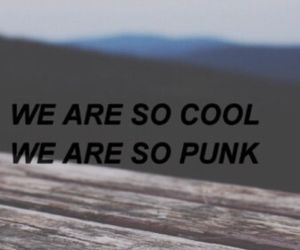 cool, punk, and quote image