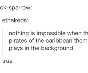 music, pirates of the caribbean, and true image