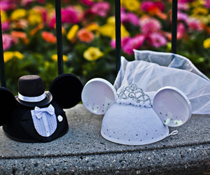 wedding, disney, and mickey mouse image