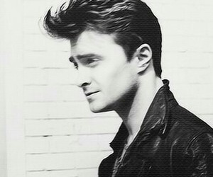 daniel radcliffe, black and white, and harry potter image