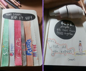 glue, wreck this journal, and tear strips rip it up image