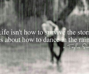 Taylor Swift, quote, and rain image