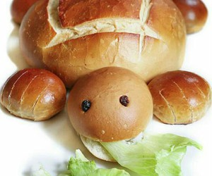 bread, turtle, and food image