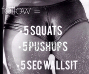 workout and squats image