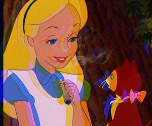 alice, smoke, and weed image