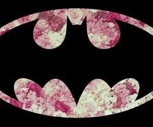 batman, flowers, and black image