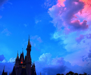 disney, sky, and castle image