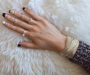 accessories, nail polish, and black image