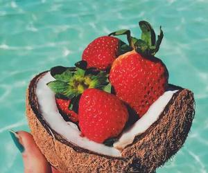coconut, food, and pool image