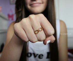infinity, girl, and ring image