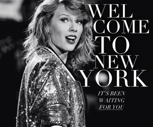 b&w, Taylor Swift, and new york image