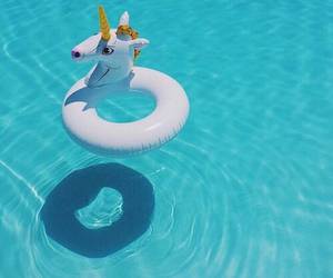 unicorn, summer, and pool image