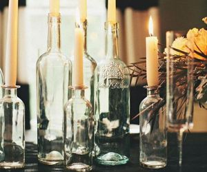 candle, decoration, and bottle image