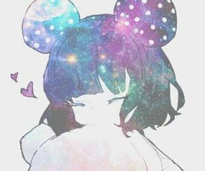 anime, girl, and galaxy image