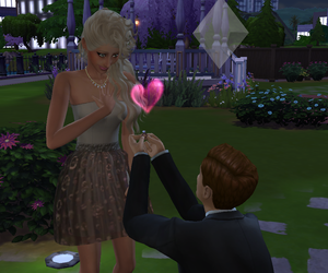 coulple, engaged, and sims image