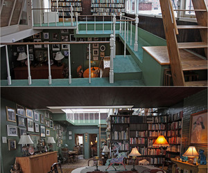apartment, author, and books image