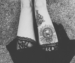 tattoo, grunge, and legs image