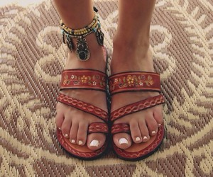sandals, shoes, and boho image
