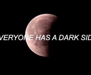 dark, darkside, and moon image