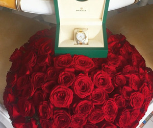 rose, rolex, and watch image