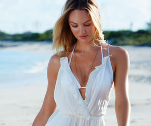 candice swanepoel, beach, and summer image