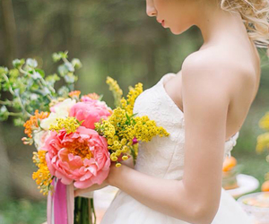 ballerina, beautiful, and bouquet image