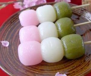 dango, food, and sweet image