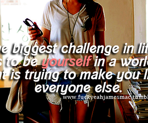 be yourself, society, and true image