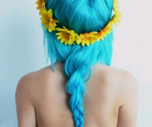 blue, curl, and girl image