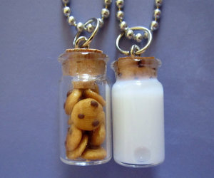milk, Cookies, and necklace image