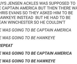 captain america, dean winchester, and funny image
