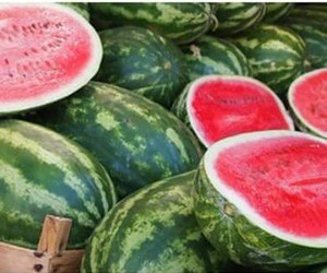food, watermelon, and njummy image