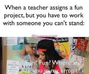 funny, school, and iisuperwomanii image