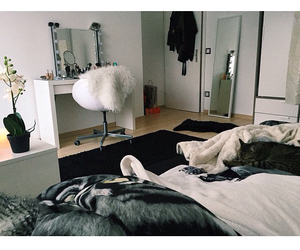 bedroom, dream room, and makeup image