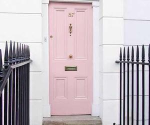 pink, pastel, and door image