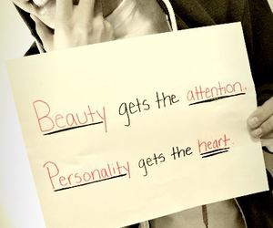 beauty, attention, and heart image