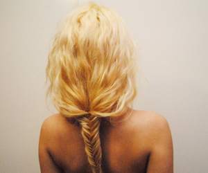 back, blonde, and braid image