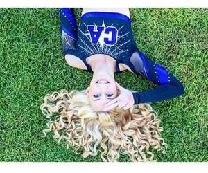 blonde, cheer, and cheerleader image