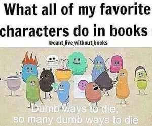 book, true, and dumb ways to die image
