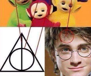 harry potter, potter, and teletubies image