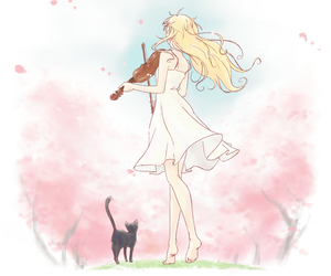 anime, shigatsu wa kimi no uso, and your lie in april image