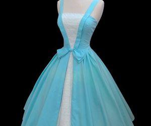 blue, vintage, and dress image