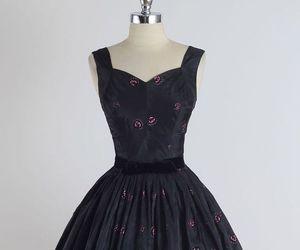 1950s, fashion, and black image