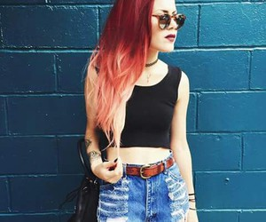 style, hair, and red hair image
