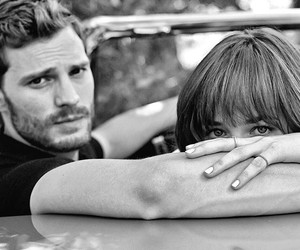 dakota johnson, fifty shades of grey, and Jamie Dornan image